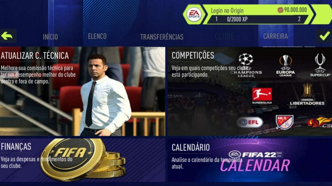 100% FUNCIONANDO ! NOVO FIFA 2021 COM MODO CARREIRA